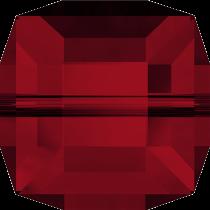 Cubes 5601 Siam  6mm x1 Cristal Swarovski