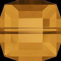 Cubes 5601 Topaz  6mm x1 Cristal Swarovski
