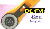 Cutter rotatif RTY-2/G - Ø 45mm Olfa pour textiles, tissus, bäches et vinyles.