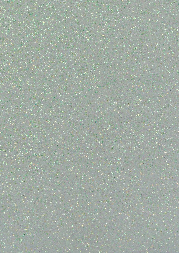 Feuille de mousse blanche paillette blanche 30x20cm
