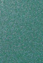 Feuille de mousse turquoise pailleté 30x20cm