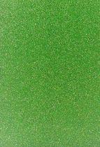 Feuille de mousse vert clair pailleté 30x20cm