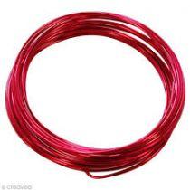 Fil Aluminium Rouge 1mm x 10mètres