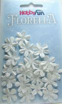 Fleurs blanche avec demi-perle - 20 pièces