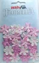 Fleurs dégradé rose avec demi-perle - 20 pièces
