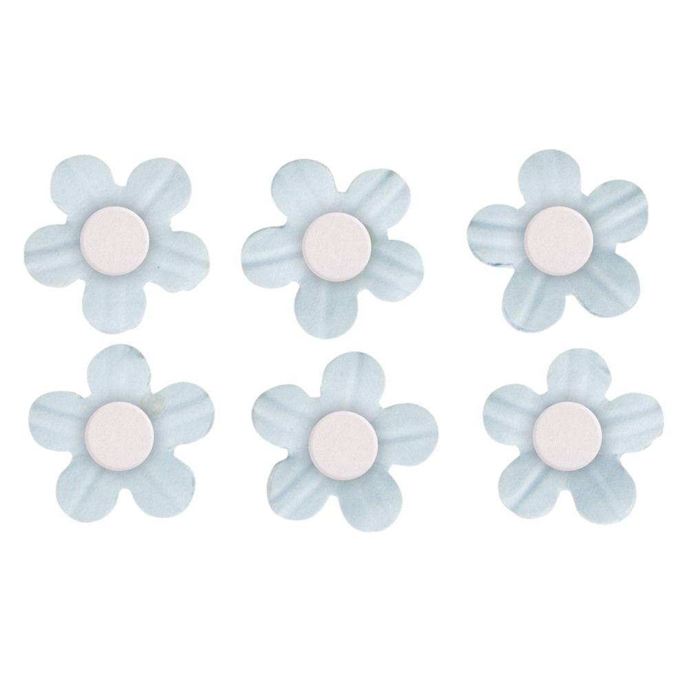 Fleurs demi-perle Bleu clair stickers déco 20 pièces