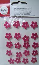 Fleurs demi-perle Fuchsia stickers déco 20 pièces