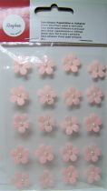Fleurs demi-perle rose clair stickers déco 20 pièces