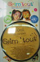 Galet de maquillage or métallique 20ml sans paraben