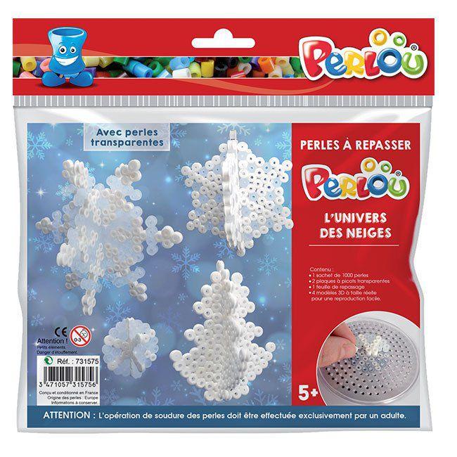 Kit 1000 perles à repasser l\'univers des neiges de Noël avec 5 motifs