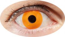 Lentilles de contact fantaisie yeux orange