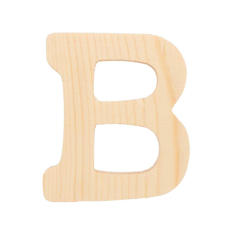 Lettre B - 8 Cm - Bois