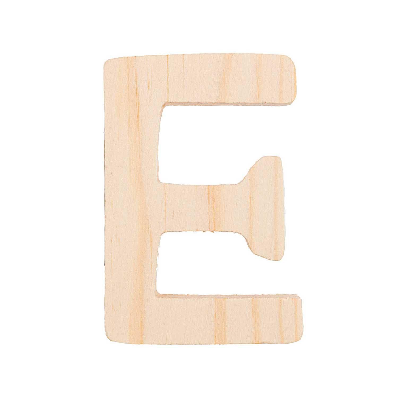 Lettre E - 8 Cm - Bois