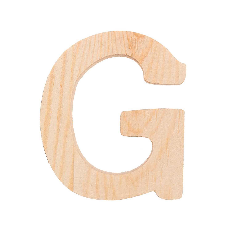 Lettre G - 8 Cm - Bois