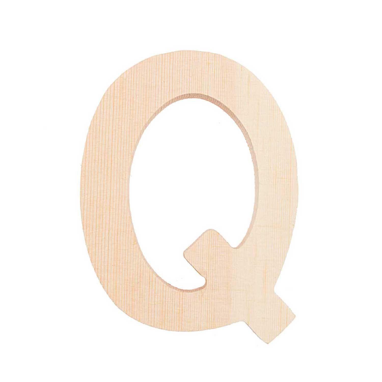 Lettre Q - 8 Cm - Bois
