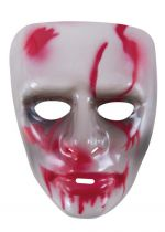 Masque adulte PVC  transparent avec sang
