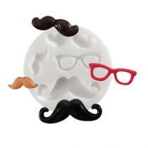 """Mini moule \""""Moustaches\"""" en silicone"""