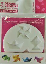 "Mini moule \""Origami\"" en silicone"