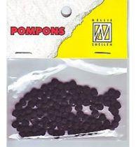 Mini Pompons Ø 3mm noir x100
