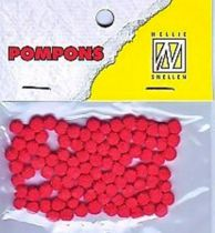 Mini Pompons Ø 3mm rouge x100