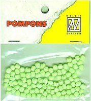 Mini Pompons Ø 3mm vert fluo x100