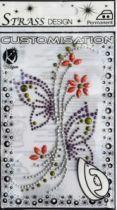 Motifs strass thermocollants fleurs / papillon