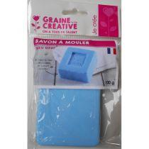 Pain de Savon à mouler Bleu azur DIY 100 gr