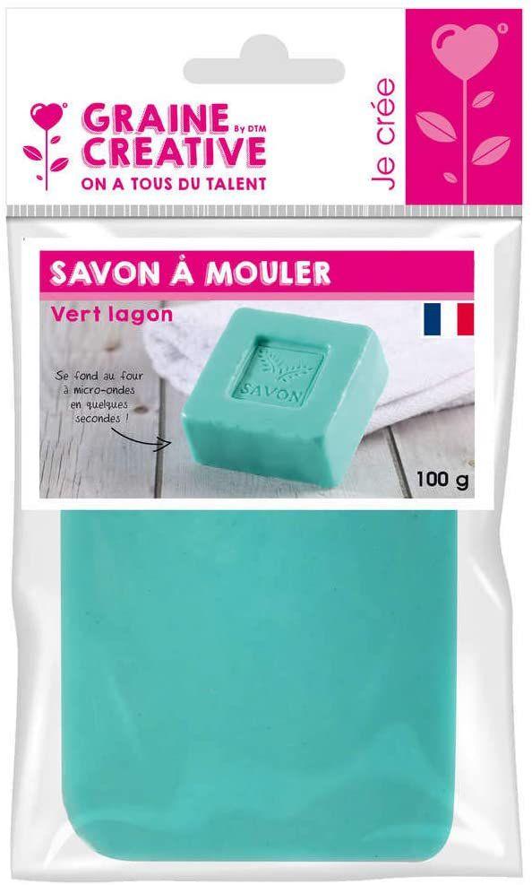 Pain de Savon à mouler Vert lagon DIY 100 gr