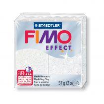 Pâte Fimo Effect 57g Blanc Pailleté n°052