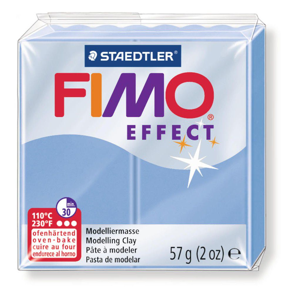 Pâte Fimo Effect 57g Bleu Agate n°386