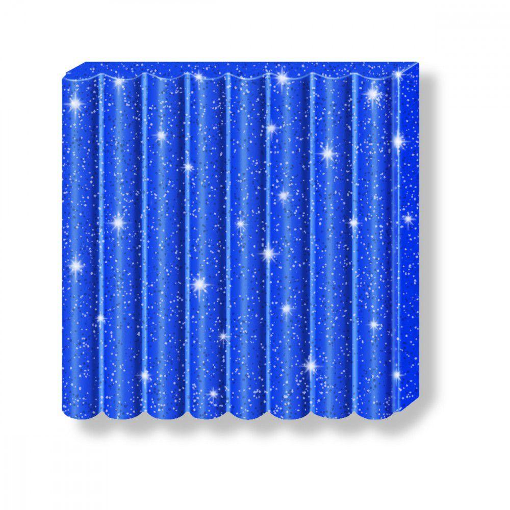 Pâte Fimo Effect 57g Bleu Pailleté n°302