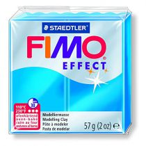 Pâte Fimo Effect 57g Bleu Transparent n°374