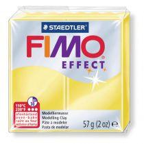 Pâte Fimo Effect 57g Jaune Transparent n°104
