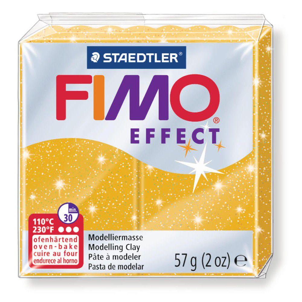 Pâte Fimo Effect 57g Or Pailleté n°112