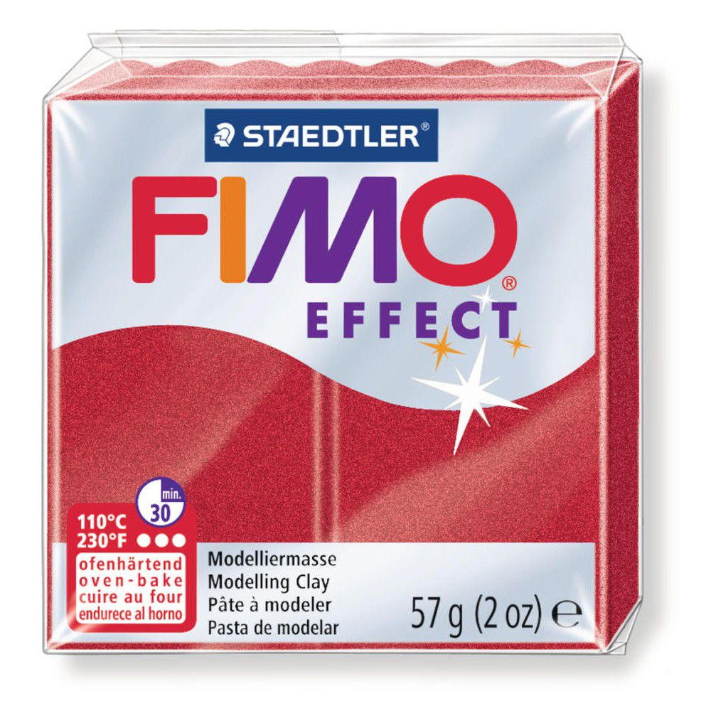 Pâte Fimo Effect 57g Rubis Métallic n°28