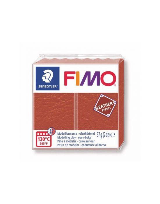 Pâte Fimo Effect Cuir Rouille n°749