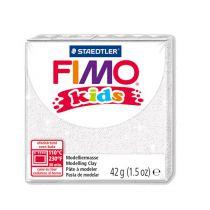 Pâte Fimo Kids 42g Blanc Pailleté n°52