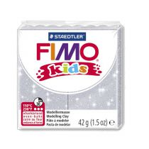 Pâte Fimo Kids 42g Gris Pailleté n°812