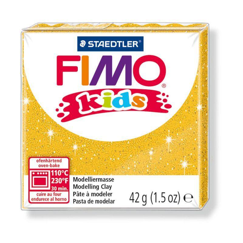 Pâte Fimo Kids 42g Or Pailleté n°112