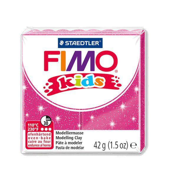 Pâte Fimo Kids 42g Rose Pailleté n°262