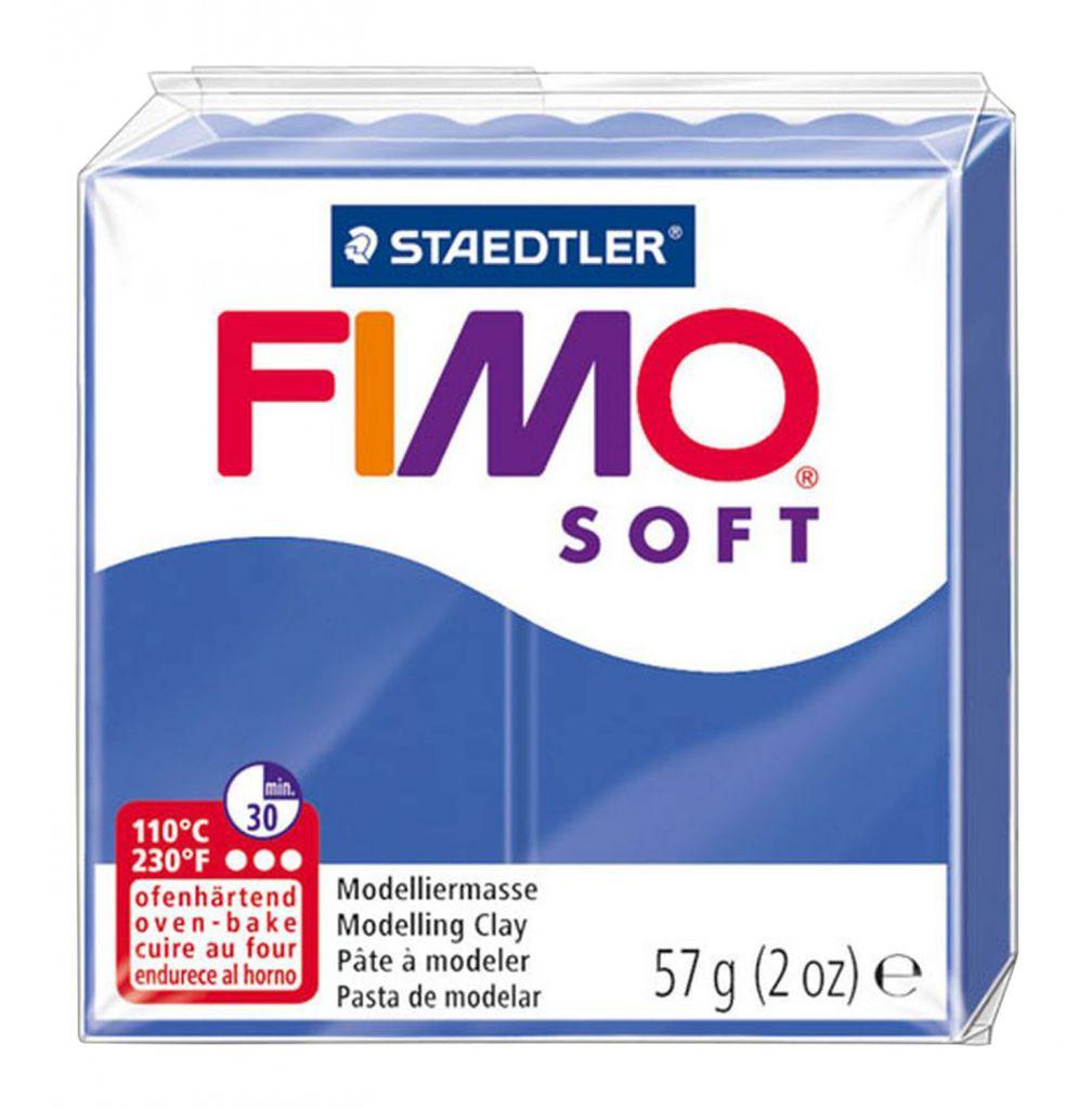 Pâte Fimo Soft 57g Bleu Vif n°33