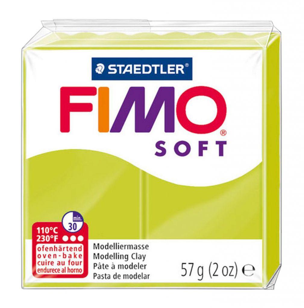 Pâte Fimo Soft 57g Citron Vert n°52