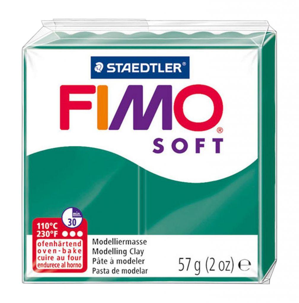 Pâte Fimo Soft 57g Emeraude n°56