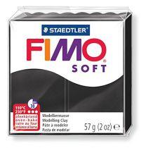 Pâte Fimo Soft 57g Noir n°9