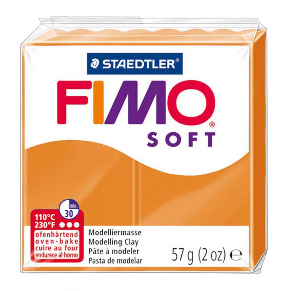 Pâte Fimo Soft 57g Orange Clair n°41