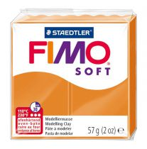 Pâte Fimo Soft 57g Orange Clair n°41