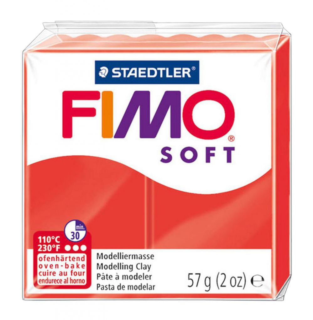 Pâte Fimo Soft 57g Rouge Indien n°24