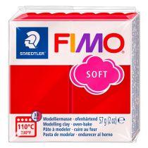 Pâte Fimo Soft 57g Rouge Noël n°2