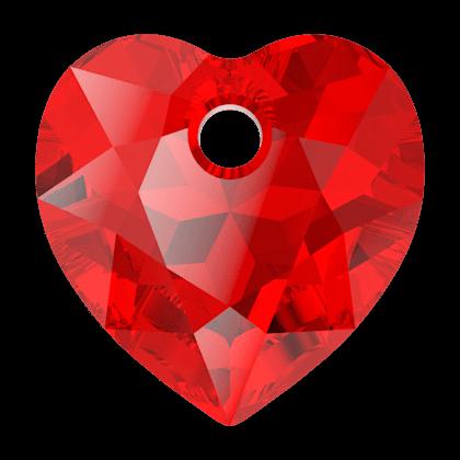 Pendentif Coeur Heart Cut Pendant 6432 Light Siam10,5mm x1 Swarovski
