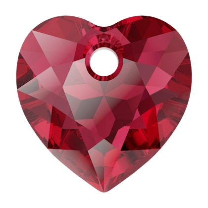 Pendentif Coeur Heart Cut Pendant 6432 Scarlet 10,5mm x1 Swarovski